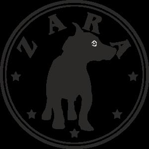 Hunde Aufkleber Rund Jack Russel